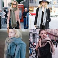 Men Women Winter Warm CASHMERE Scarf Solid Plaid Wool SCOTLAND High quality