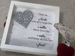 Personalised Quote Gift Frame - Only an Aunt/Godparent can give hugs like...