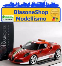 Modellino Alfa Romeo 4C SBK Safety Car MotoGp 2014 Top Marques BBR Resina 1:18