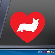"Corgi Heart Love Sticker Uv Protected Laminated Vinyl Pembroke Welsh - 5.5"""
