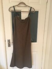RALPH LAUREN, Lambs Wool/Angora, Full Length Dress, Leather Straps, Worn Once