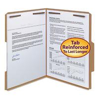 Smead 11 Point Kraft Folders Two Fasteners 2/5 Cut Top Tab Letter Brown 50/Box