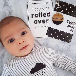 Baby Milestone Cards -  Monochrome Milestone Cards - Baby Photo Cards - New Baby