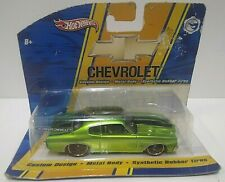 2008 Hot Wheels Chevrolet '70 Chevy Chevelle Green/Black HTF PLEASE READ 1/50