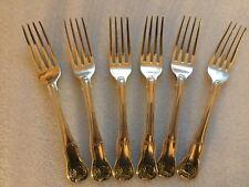 WILLIAM BATEMAN 1. Set of 6 KINGS Desert Forks Dated 1819/20 unsigned & lovely
