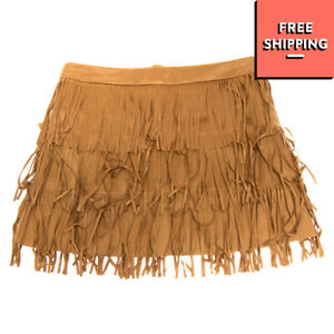 SILVIAN HEACH KIDS Soft Flapper Skirt Size 14Y Suede Effect Fringe Trim