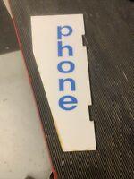 Vintage Phonebooth Sign