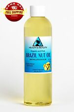 Brazil Nut Oil Organic Carrier Cold Pressed by H&B Oils Center 100% Pure 4 Oz