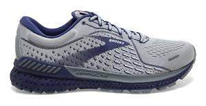 Men's Brooks Adrenaline GTS 21 Running Shoes Grey Blue Sizes 8-14 FREE SHIPPING