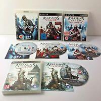 Assassins Creed Bundle 1 - 2 Brotherhood & 3 Playstation 3 x4 (PS3)
