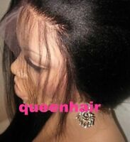 Glueless Brazilian yaki straight  100 Human Hair Lace Front Wig Full Lace Wigs