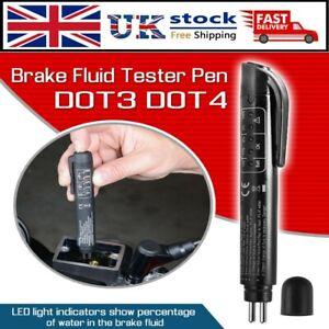 Brake Fluid Liquid Tester Pen With 5 LED Vehicle Diagnostic Tool For DOT3/DOT4