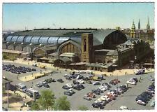 AK, Hamburg, Hauptbahnhof mit Vorplatz, belebt, 1962