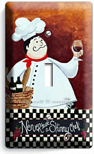 DRUNK ITALIAN FAT CHEF SINGLE LIGHT SWITCH WALL PLATE COVER KITCHEN DINING ROOM