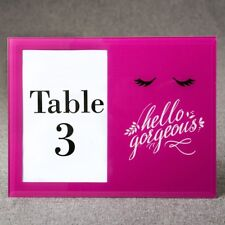 20 Hello Gorgeous Hot Pink Table Number Sweet 16, Bridal Shower Gift Frames