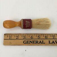 """Vintage Certifyd Shaving Brush No. 5 Sterilized Rubber Set Red & Wood 6.5"""" USA"""