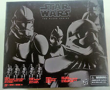 "STAR Wars Nero Serie 4 Pack Stormtrooper 6"" Action Figure noi ESCLUSIVO NUOVO"