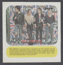 1970's Joepie Sex Pistols Rock Legends European Card/Sticker