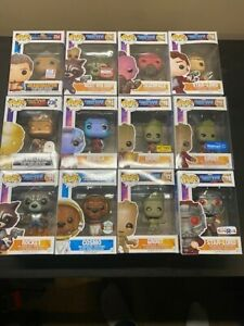 Huge Lot 27 Funko Pops Guardians of the Galaxy- Rare, Excusive, Chase No Reserve