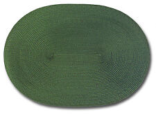 Placemats Vinyl Oval Place Mats Wipe Off Flexible Polyproylene Green Set of 4