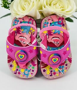 Dreamworks TROLLS Light-Up Flip Flop Sandals Pink Toddler Girl Sz Small 5/6 Shie