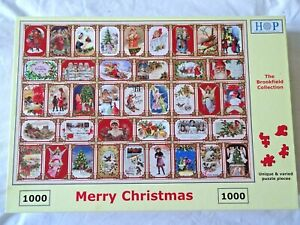 House Of Puzzles HOP 1000 Piece Jigsaw Puzzle MERRY CHRISTMAS