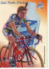 CYCLISME carte cycliste GIAN PAOLO CHEULA  équipe MAPEI 2002 signée