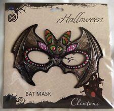 Bat Halloween Mask - Metallic - Clintons - Brand New