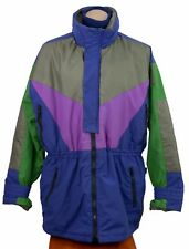 Vtg 80s 90s Mountain Goat Ski Coat Mountaineering Jacket Retro Colorblock Mens