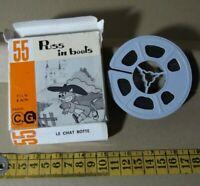Pelicula 8 mm.Puss in Boot dibujos animados C.G. film   B/N  silent