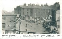 Postcard unposted Lancashire Oldham real photo Repro run Market place