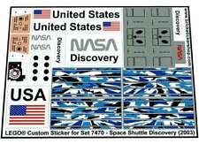 Precut Replica Sticker for Lego Set 7470 - Space Shuttle Discovery (2003)