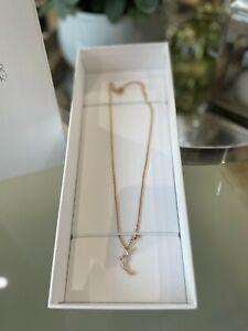 BNIB Atelier Swarovski PENÉLOPE CRUZ MOONSUN Necklace White & Rose Gold £99.00