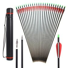 """30"""" Archery Carbon Arrows Spine 500 OD 7.8 mm For 40-60 lbs Compound/Recurve Bow"""