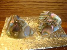 Fender 351 Heavy PEARL MOTO Abalone Guitar Pick Cuff links Silver Plated (2)