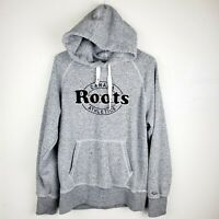 ROOTS Canada Athletics Gray Hoodie Pocket Sweater Women's Size XS