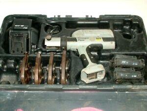 Viega Picco 18V Li-ion 15 20 25 32mm Pipe Joint Copper Crimper PressGun Tool Kit