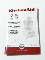 KitchenAid KFP720 Food Processor KFP720WH2 Replacement Part Instruction Booklet