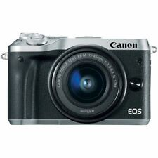 Canon EOS M6 mit Canon EF-M 15-45mm IS STM Objektiv M 6 silber