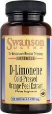 Swanson Ultra D-Limonene Cold-Pressed Orange Peel Extract, 60 Softgels 250 mg