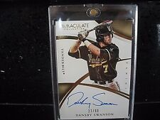 2015 Immaculate Dansby Swanson Vanderbilt Auto Card 22/99! WOW BRAVES!