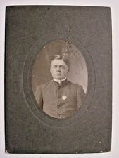 Early Photo-Salvation Army-Young Man-Badge On Uniform