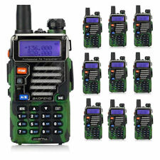 10x BaoFeng UV-5R Plus Qualette Camouflage 2M/70CM 128CH Two-way Radio+ Earpiece