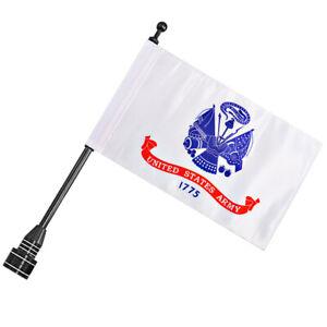 Motorcycle Luggage Rack Vertical Black Flag Pole Mount&Flag For Harley Davidson