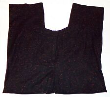 Gunex Black Speckled Womens Pants 8 Wool Cashmere Blend Italy
