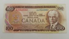 BANK OF CANADA 1975 $ 100, CANADIAN BANK NOTE