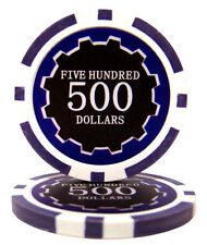 100 Purple $500 Eclipse 14g Clay Poker Chips New - Buy 2, Get 1 Free