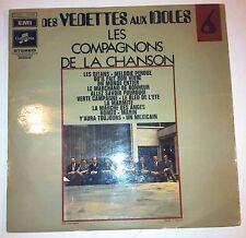 33 T VINYL LES COMPAGNONS DE LA CHANSON DES VEDETTES AUX IDOLES