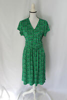 Boden Womens Green Sunglasses Print Surplice Dress Size 12 NWT