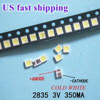 100pcs 3528 2835 3V Lamp Beads 350mA for LED TV Backlight Strip Repair